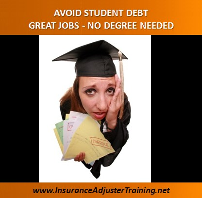 Jobs with No Degree - Avoid Student Debt - Texas Adjuster ...